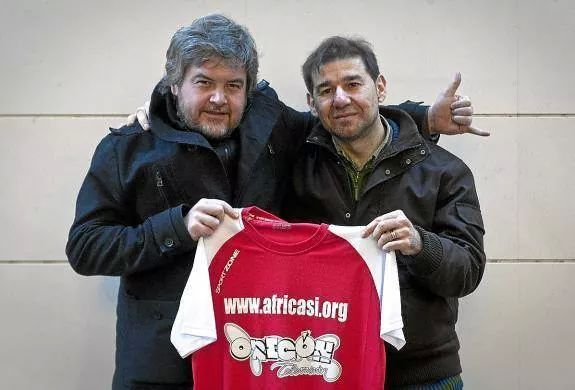 Javier Coronas con Juan Carrillo